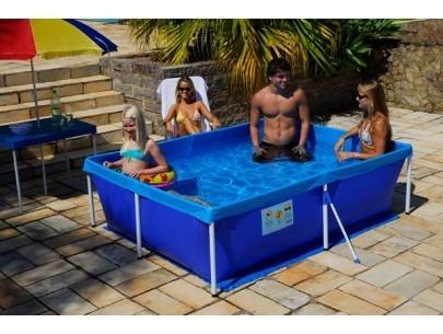 piscina infantil standard 2000 litros aço mor 211x164x58cm