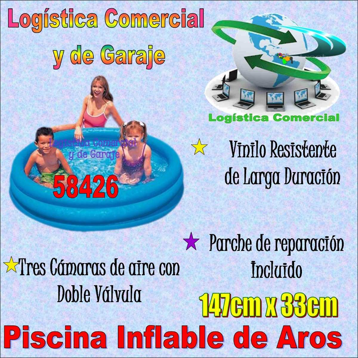 Piscina Inflable 3 Aros Azul Ni Os Intex 147cm X 33cm