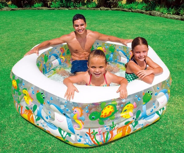 piscina inflable acuario 56493 para ni os intex acolchada On piscinas infantiles intex