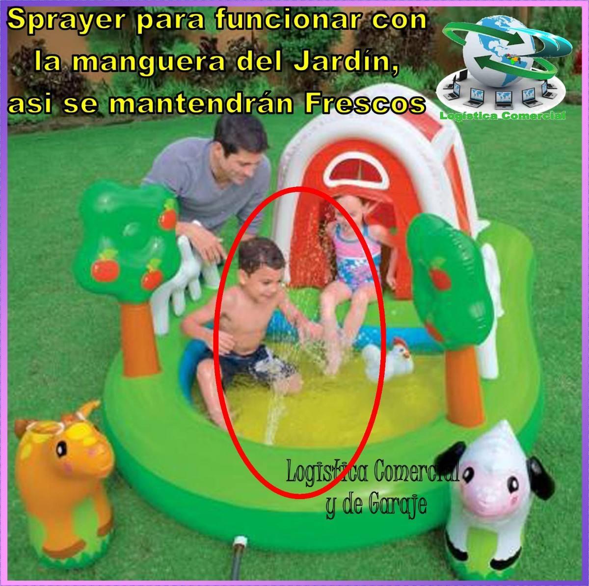 piscina inflable centro juego accesorios granja intex
