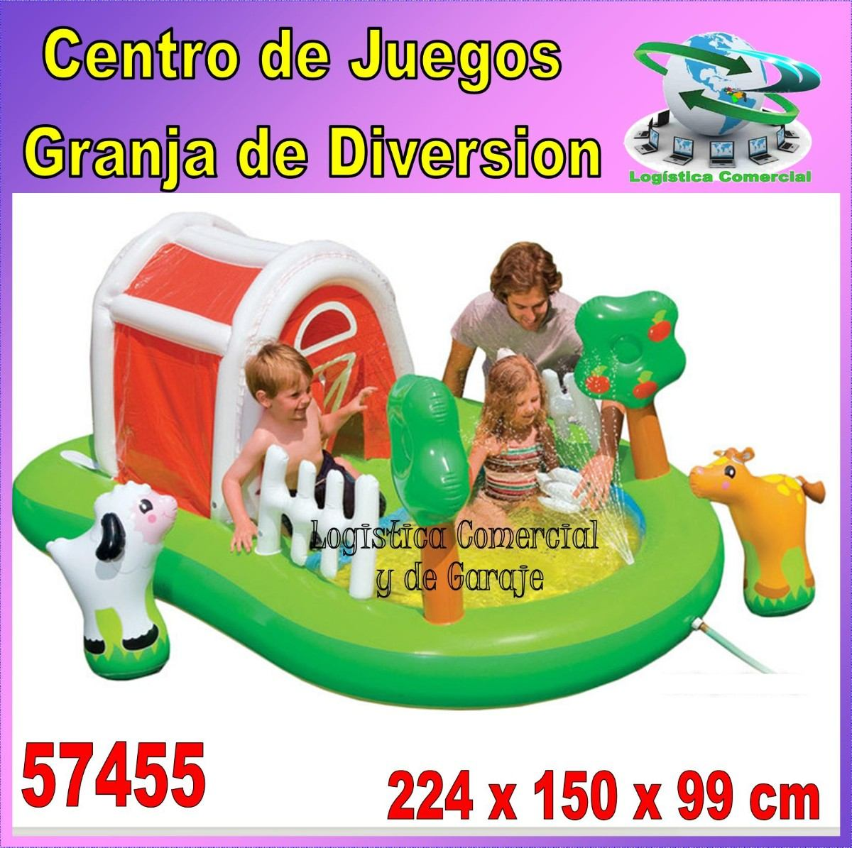 Piscina inflable centro juego accesorios granja intex for Piscina inflable intex