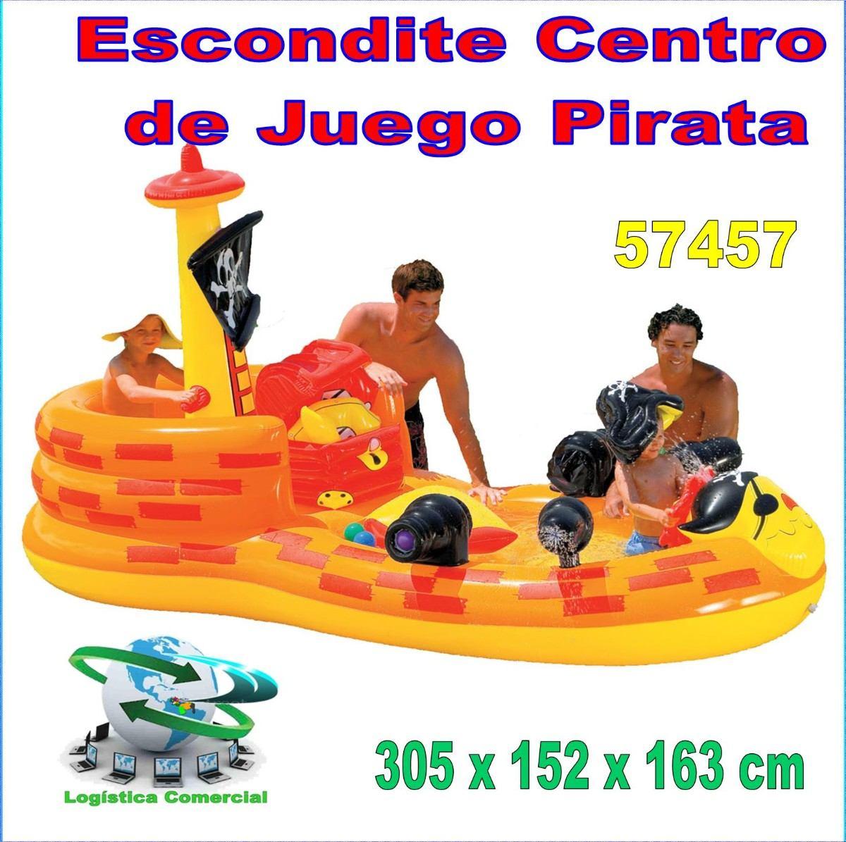 Piscina inflable centro juego accesorios piratas intex for Piscina inflable intex