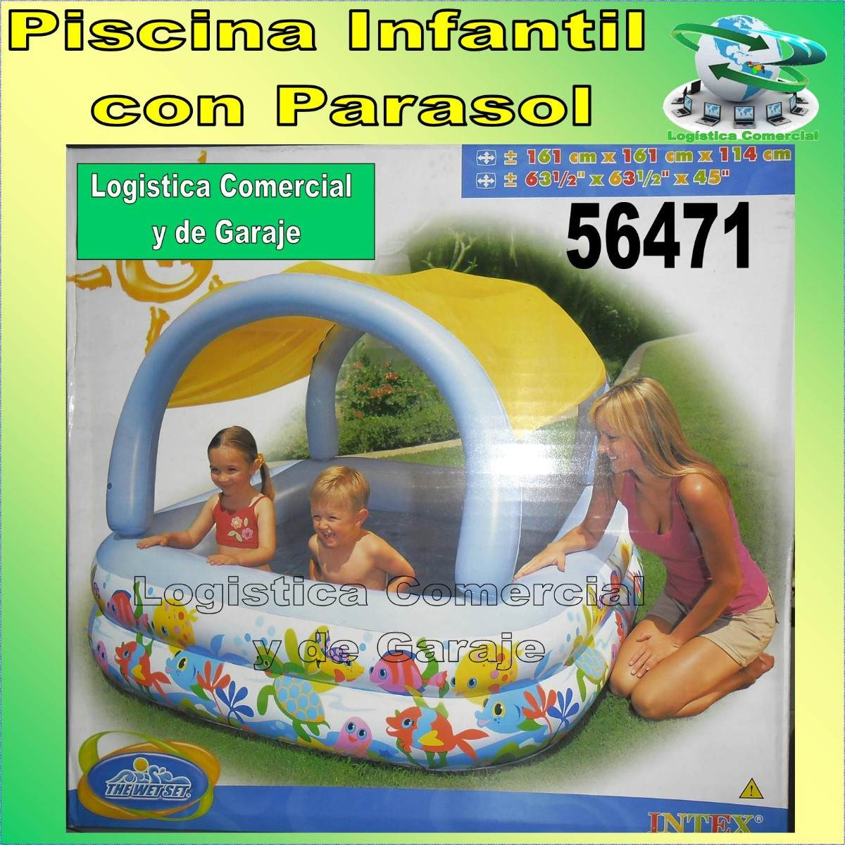 Piscina inflable con parasol o techo para ni os intex for Protector de piscinas para ninos