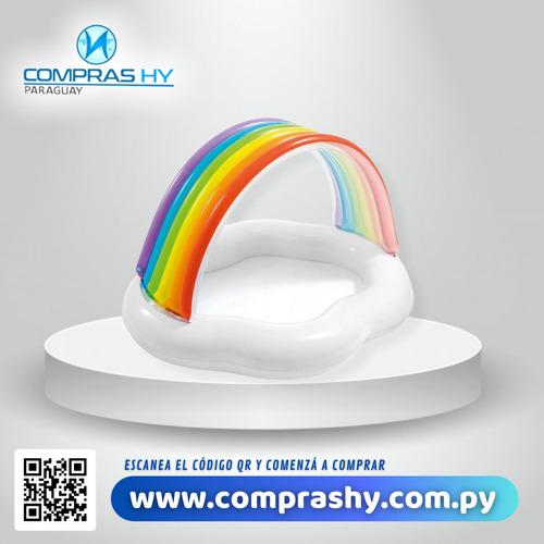 piscina inflable con techo arco iris intex (82 litros)