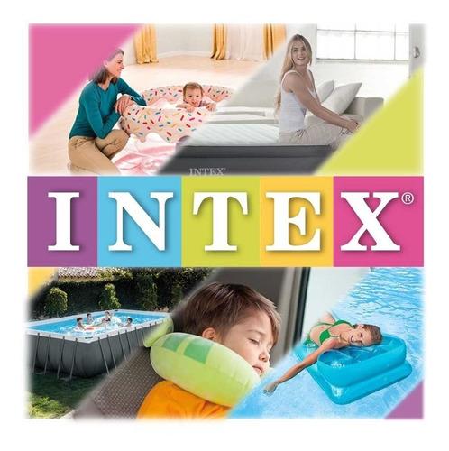 piscina inflable de cocodrilo grande con accesorios intex