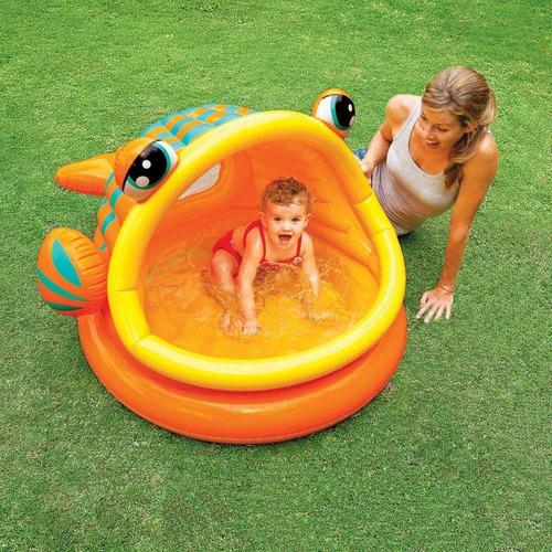 piscina inflable del bebé intex peces perezosos, 49 x 43