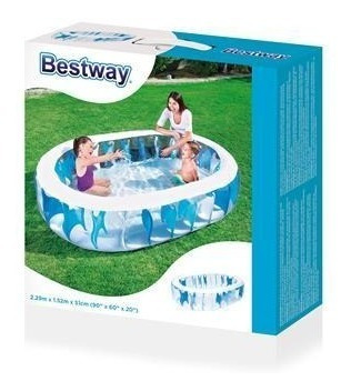 piscina inflable eliptica