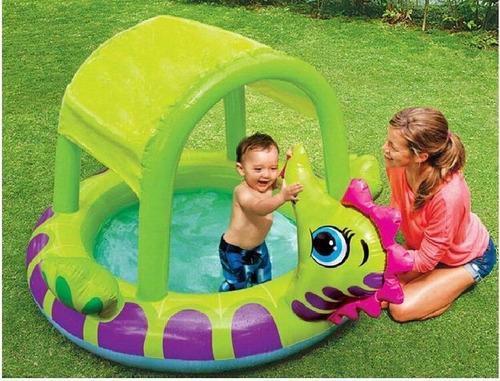 piscina inflable flotrador niños parasol techo salvavidas