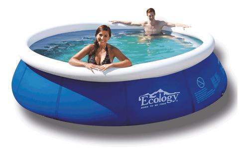 piscina inflable grande 3,6 m ecology (con detalles)