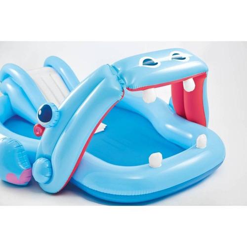 piscina inflable hipopotamo con chorro para niños intex