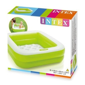 Piscina Inflable Intex 57100np Cuadrada Para Niños Bebes