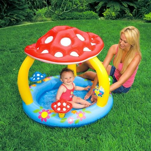 piscina inflable intex niños hongo agua 1.02x89cm *