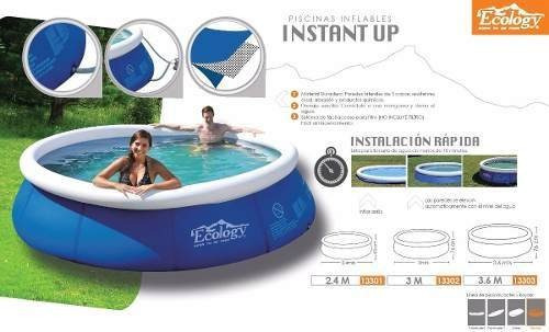 piscina inflable mediana 3mts ecology