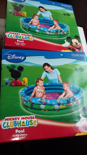 piscina inflable mickey house 01.22m x 25cm infantil