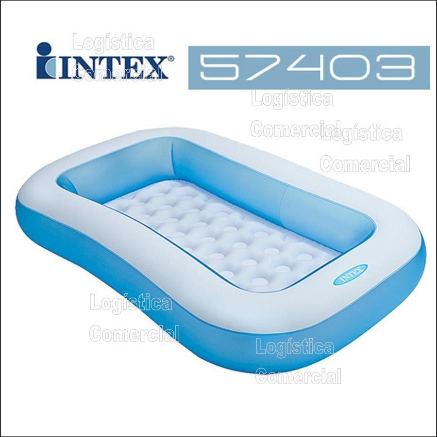 Piscina inflable para bebes intex piso extra acolchado for Piscinas montables