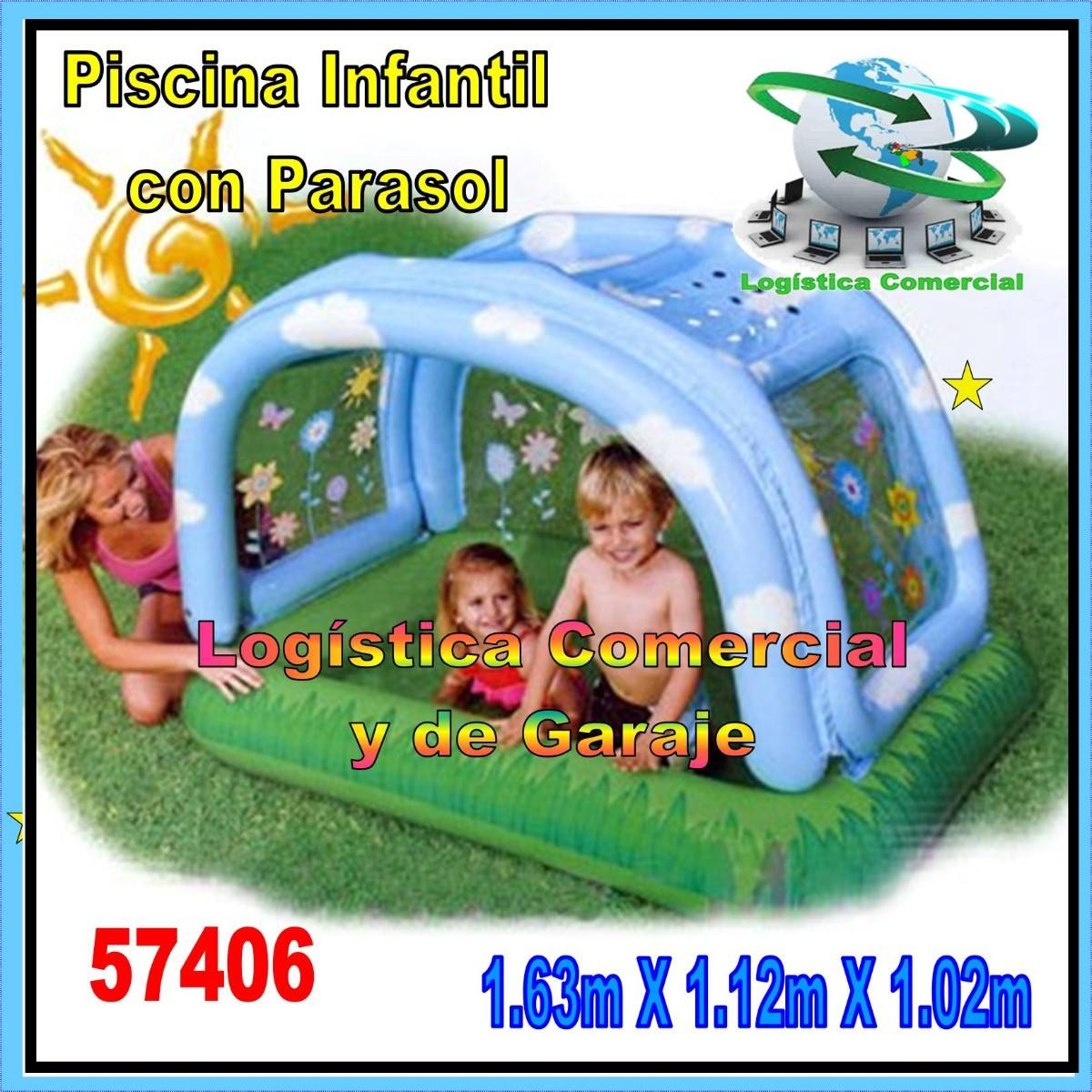 Piscina inflable para ni os intex 57406 con parasol o for Piscinas desmontables infantiles