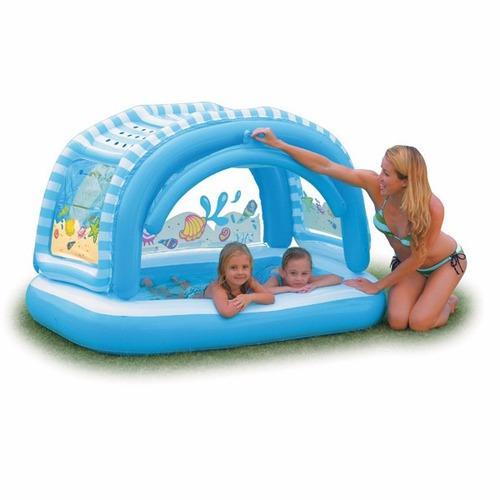 piscina inflable para niños intex 57406 con parasol o techo