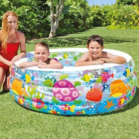 piscina inflable para niños peces acuario intex 58480 318l