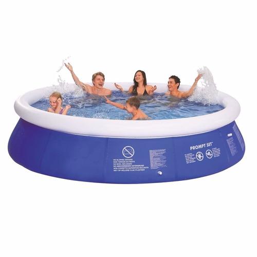 piscina inflable pool 11621l bomba + funda + lona + escalera