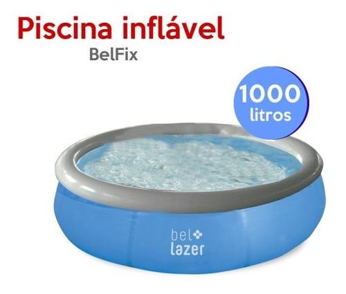 piscina inflável 1.000 litros 168 x 51 cm 100000 belfix