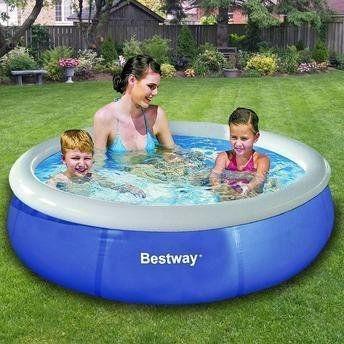 piscina inflável 1.000 litros fast set bestway até 3 pessoas