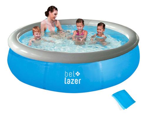 piscina inflável 1000l com kit reparo 100000 belfix