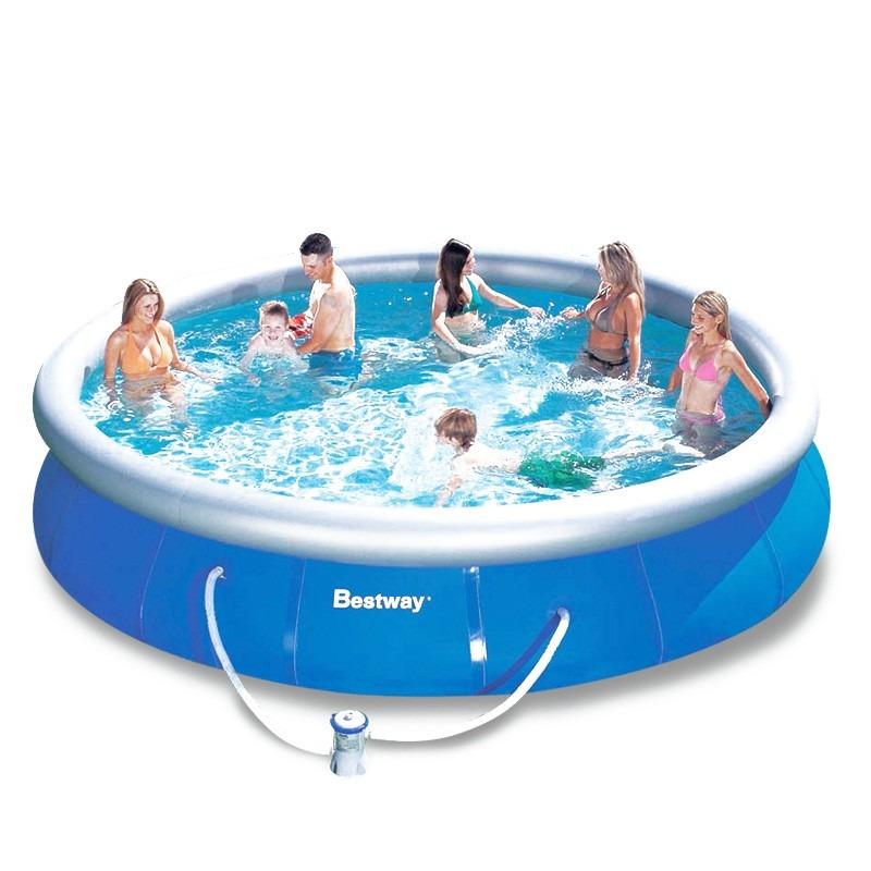 Piscina infl vel 10179l bestway 4 57m x 91cm b filtro for Ofertas piscinas bestway
