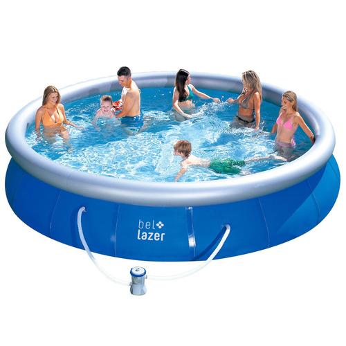 piscina inflável 11000l com kit e filtro 112000 belfix 127v