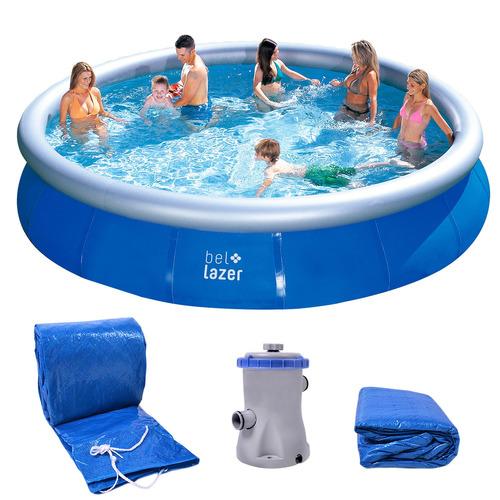 piscina inflável 11000l kit com filtro 111100 belfix 220v