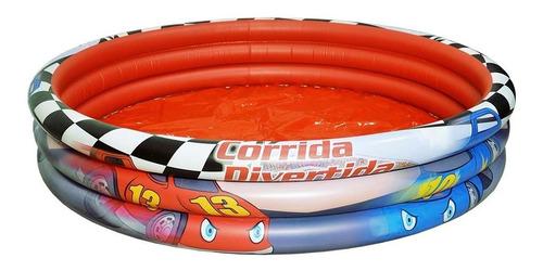 piscina inflavel 190 lts infantil - carro corrida divertida