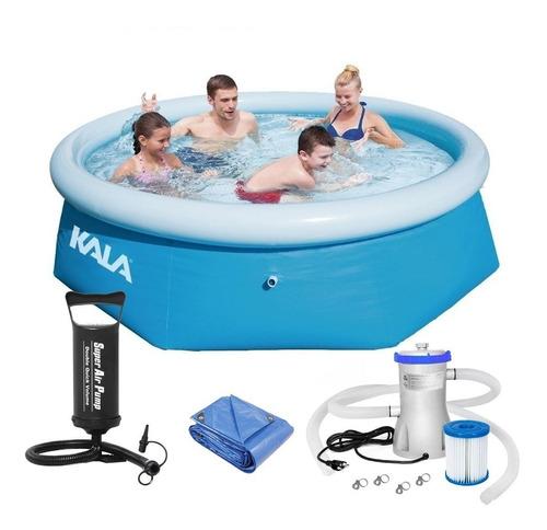 piscina inflável 2300 l 216780 kala + filtro + capa + bomba