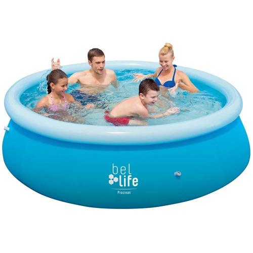 piscina inflável 2300 litros 100800 belfix + cobertura