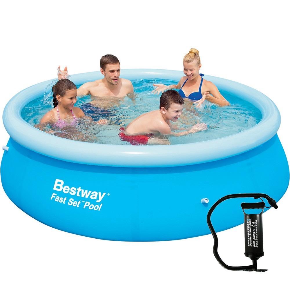 Piscina infl vel 2300 litros 2 44m x 66cm bestway bomba for Calcular litros piscina
