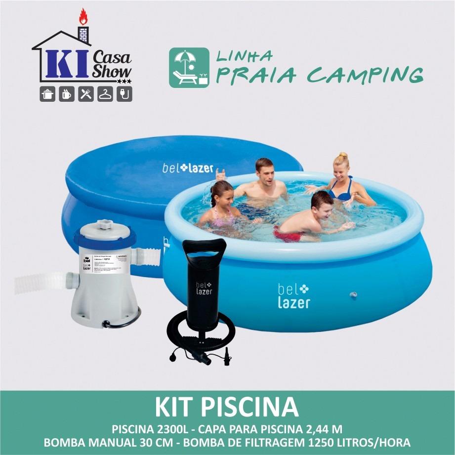 Piscina infl vel 2300 litros bomba filtro capa r for Piscina infantil 2 mil litros