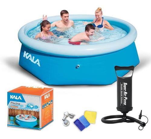 piscina inflável 2300 litros kit reparo 216780 kala + bomba