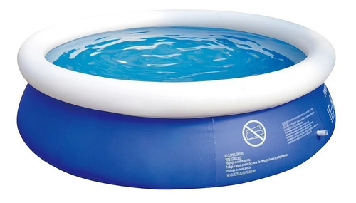 piscina inflável 2400 litros c/ kit reparo 19304 brizi
