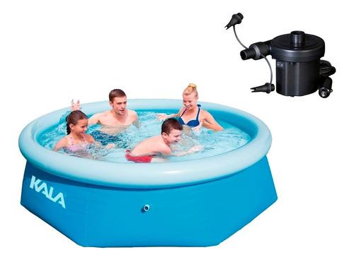 piscina inflável 3700 litros kala + bomba ar eletrica 127v -