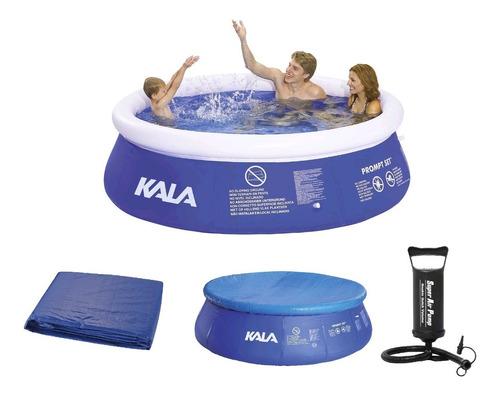 piscina inflável 4000l 196126 kala+ capa + forro + bomba