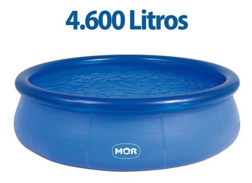 piscina inflável 4600 l capa+ forro+ inflador + filtro 220 v