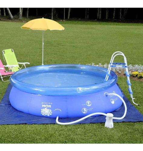 piscina inflável 4600 litros splash fun mor + bomba manual
