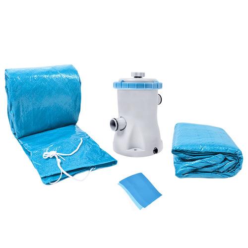 piscina inflável 4600l kit com filtro 101000 belfix 127v