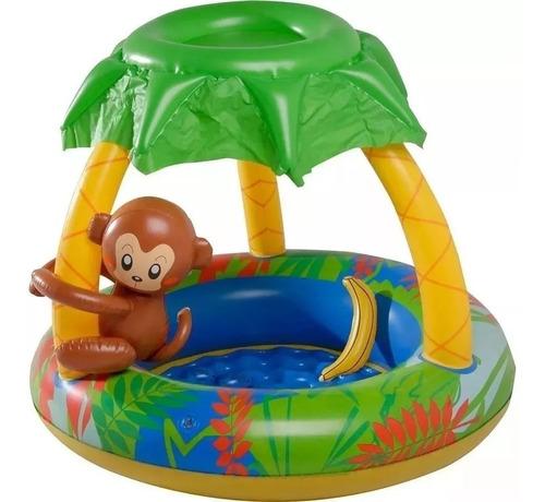 piscina inflável 53 litros cobertura macaquinho piscina