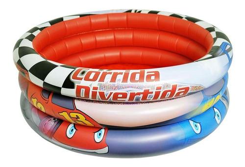 piscina inflavel 66 litros carro infantil corrida divertida