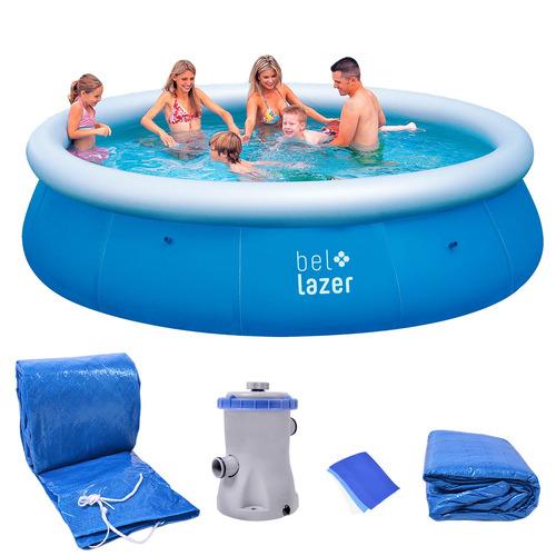 piscina inflável 8200l kit com filtro 116600 belfix 220v