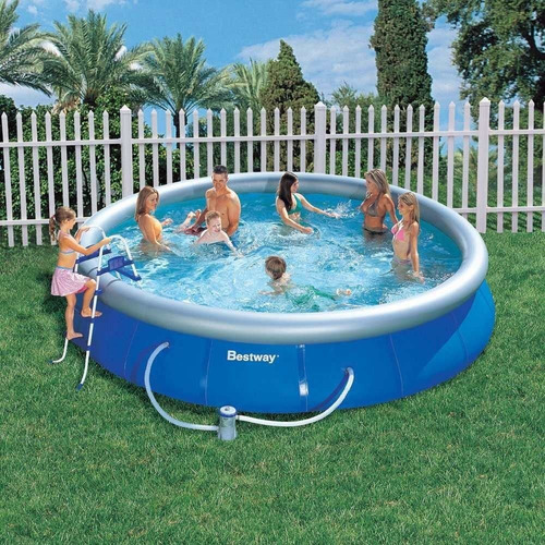 piscina inflável 9.677 l completa bomba filtro escada capa