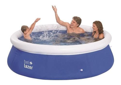 piscina inflável armação redonda 2500l com kit reparo belfix