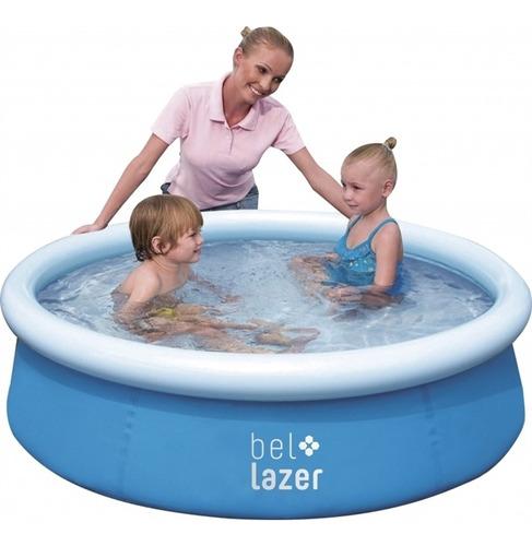 piscina inflável bel lazer 500 litros azul bel fix + kit rep