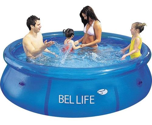 piscina inflável bel life 2300 litros azul 100800  - bel fix
