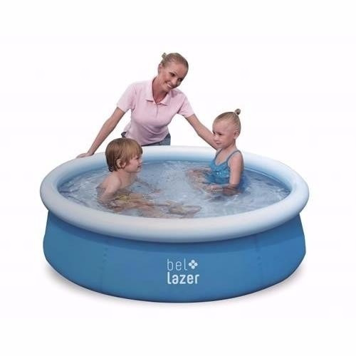 piscina inflável bel life 500 litros azul - bel fix