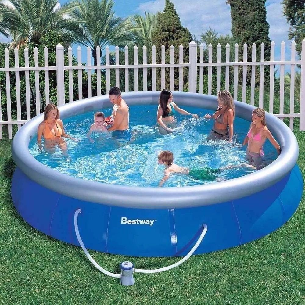 Piscina infl vel bestway litros com bomba filtrante for Fotos de piscinas climatizadas